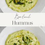Bärlauch Hummus Pinterest Pin