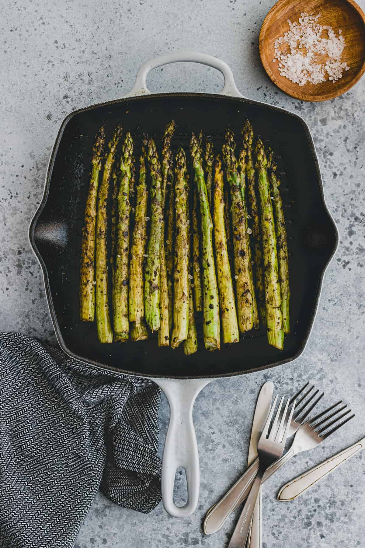 how to grill asparagus in a grill pan