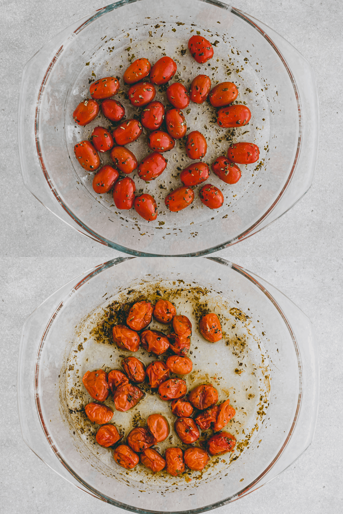 Oven Roaste Cherry Tomatoes Recipe Step 1-2