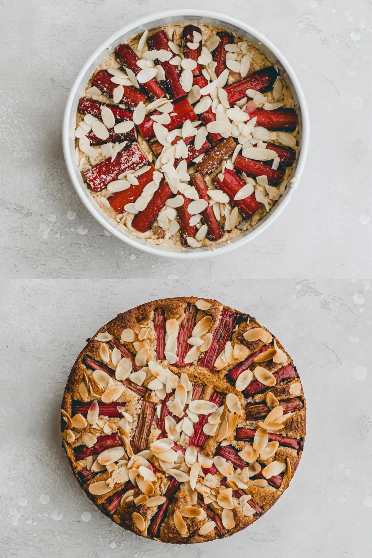Rhubarb Almond Cake Recipe Step-10-11