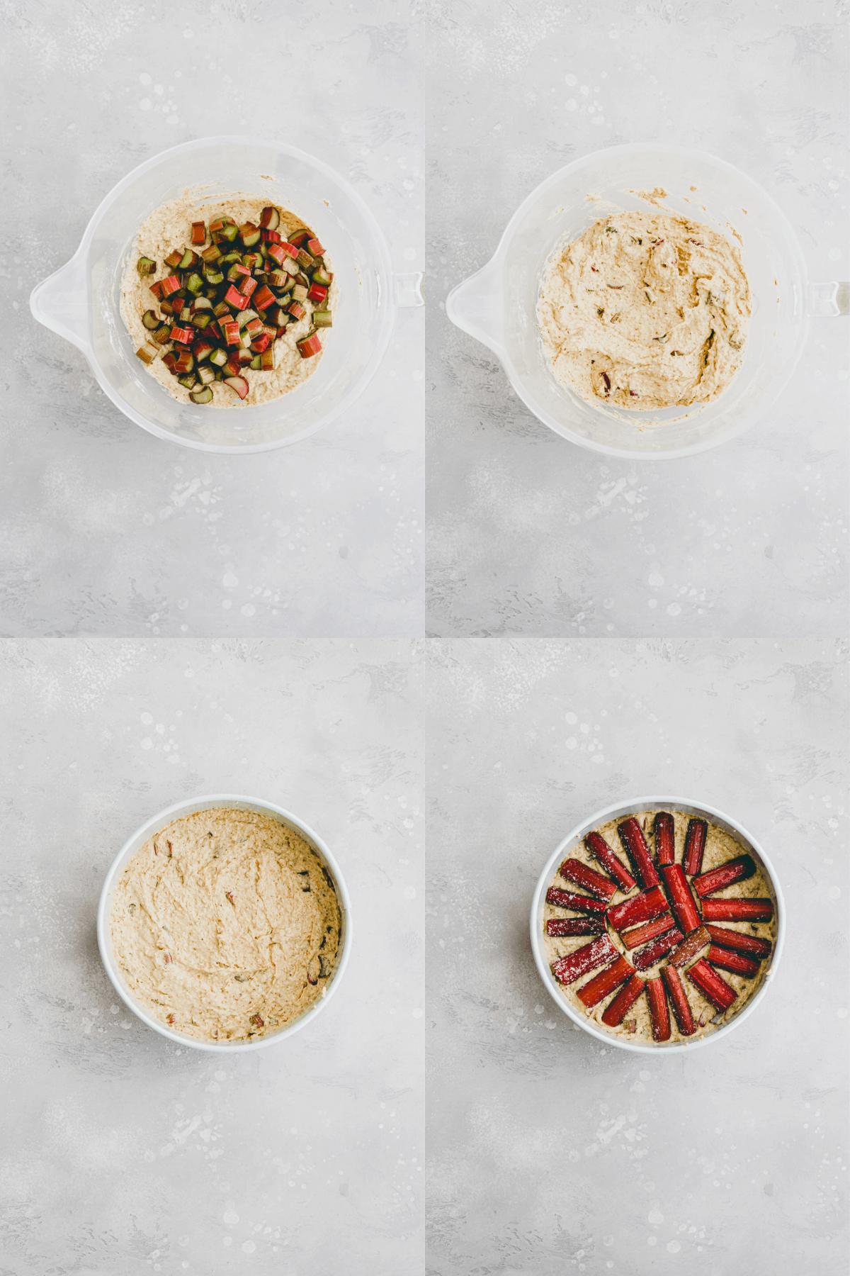 Rhubarb Almond Cake Recipe Step-6-9