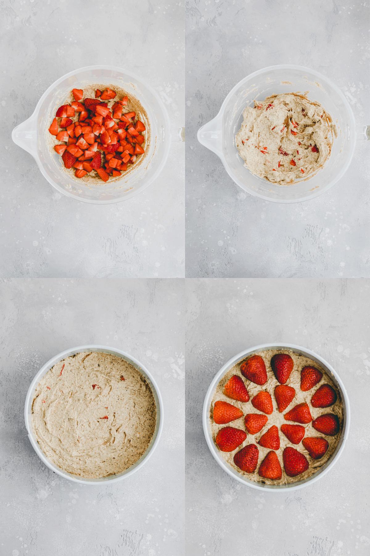 Strawberry Almond Cake Recipe Step-6-9