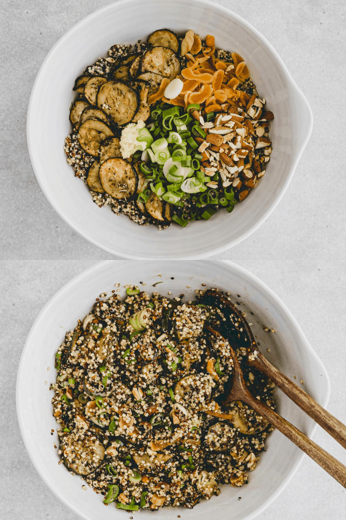 Sommer Quinoa Salat Rezept Schritt 7-8