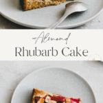 Almond Rhubarb Cake Pinterest Pin