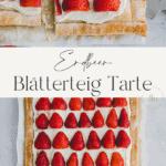 Blätterteig mit Erdbeeren Pinterest Pin