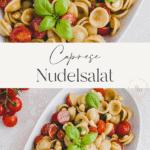 Caprese Nudelsalat Pinterest Pin