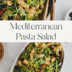 Mediterranean Pasta Salad Pinterest Pin