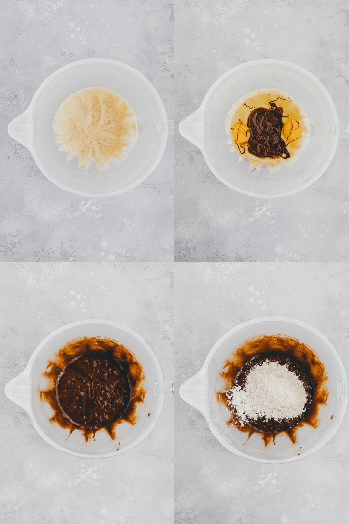 Nutella Brownie Recipe Step 1-4