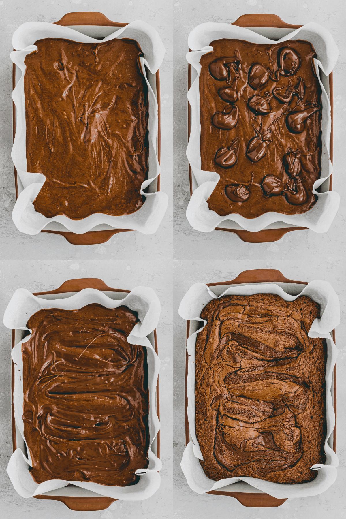 Nutella Brownie Recipe Step 6-10