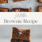 Nutella Brownies Pinterest Pin