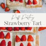 Strawberry Puff Pastry Tart Pinterest Pin