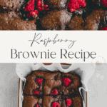 Raspberry Brownie Pinterest Pin