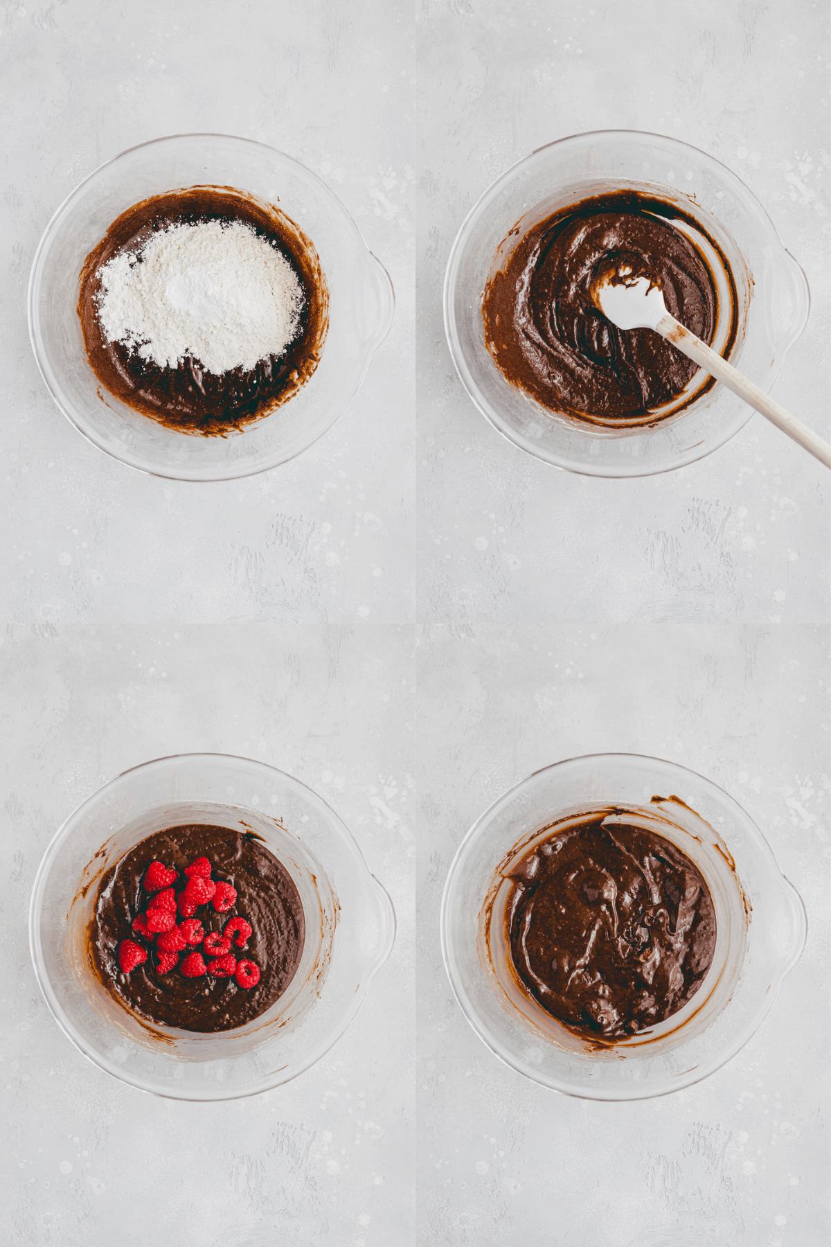 Raspberry Brownies Recipe Step-6-9