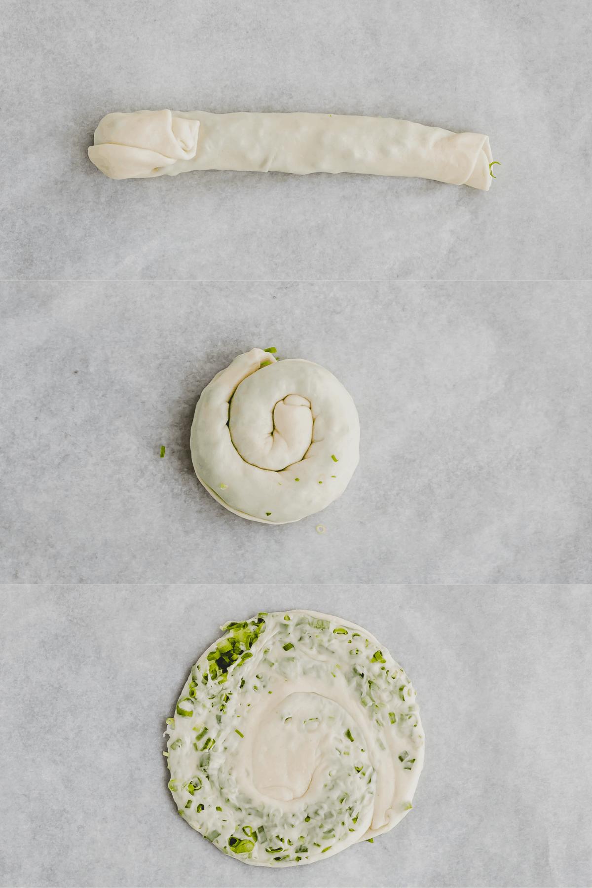 Scallion Pancakes Recipe Step 10-12