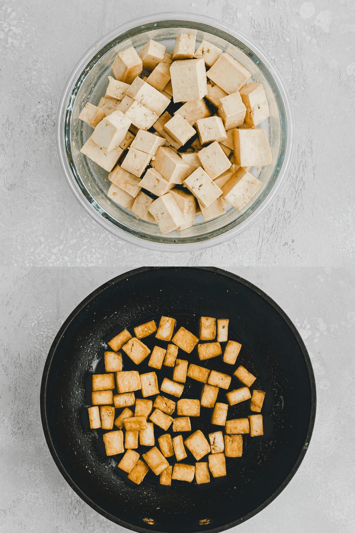 Tofu Stir Fry Recipe Step 1-2