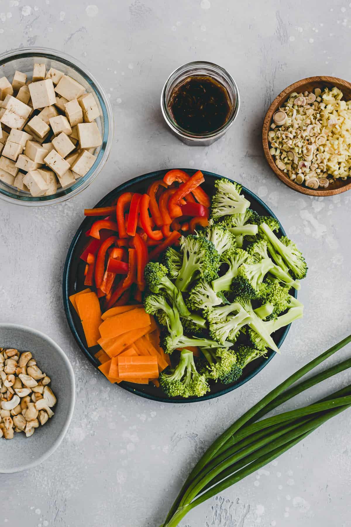 ingredients for tofu stir fry