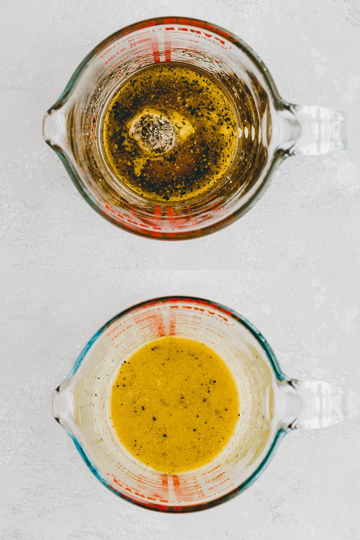 Honig Senf Dressing Rezept Schritt 1-2