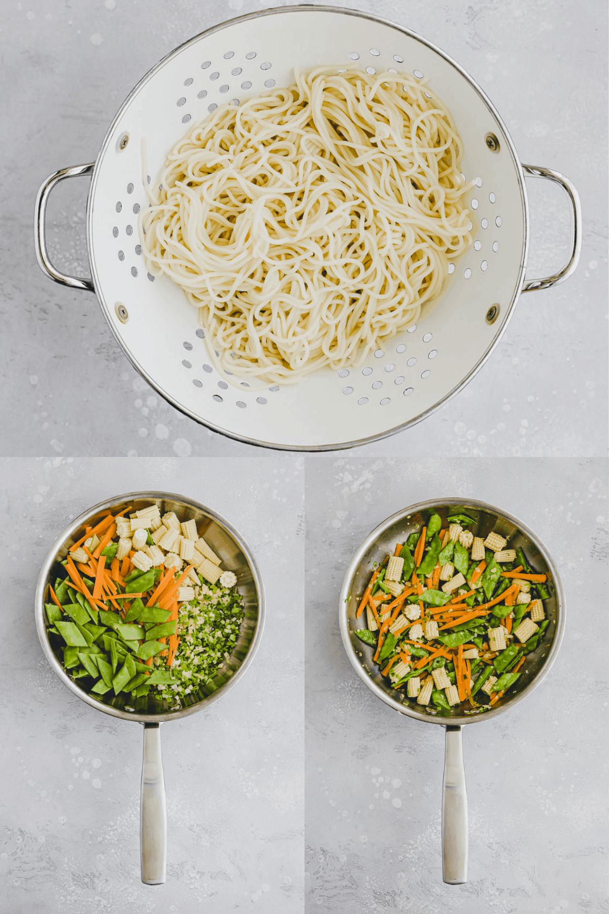 Lo Mein Noodles Recipe Step 1-3