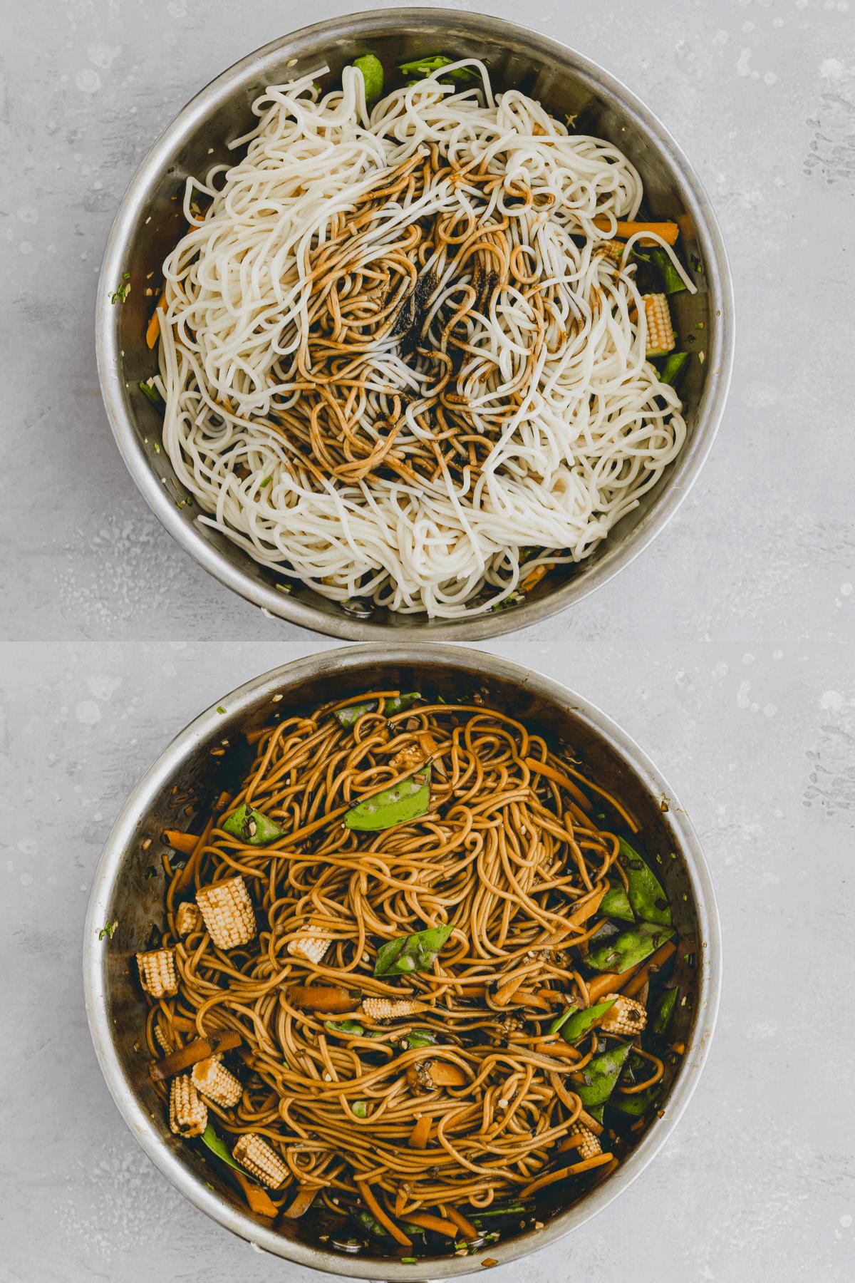 Lo Mein Noodles Recipe Step 4-5