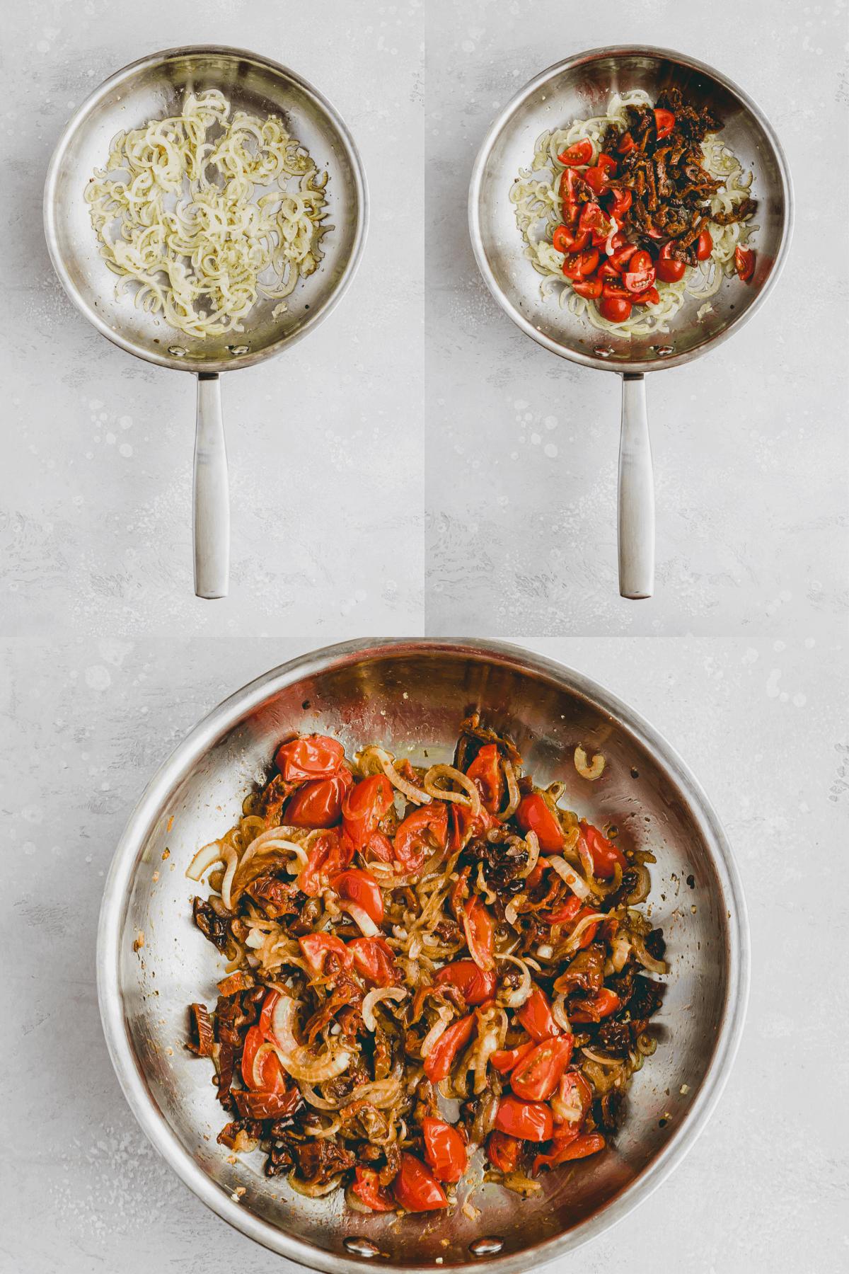 Nudeln mit getrockneten Tomaten Rezept Schritt-1-3