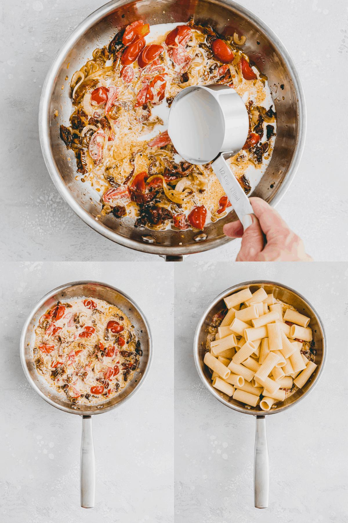 Nudeln mit getrockneten Tomaten Rezept Schritt-4-6