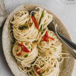 spaghetti aglio rezept pinterest pin