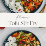 tofu stir fry pinterest pin