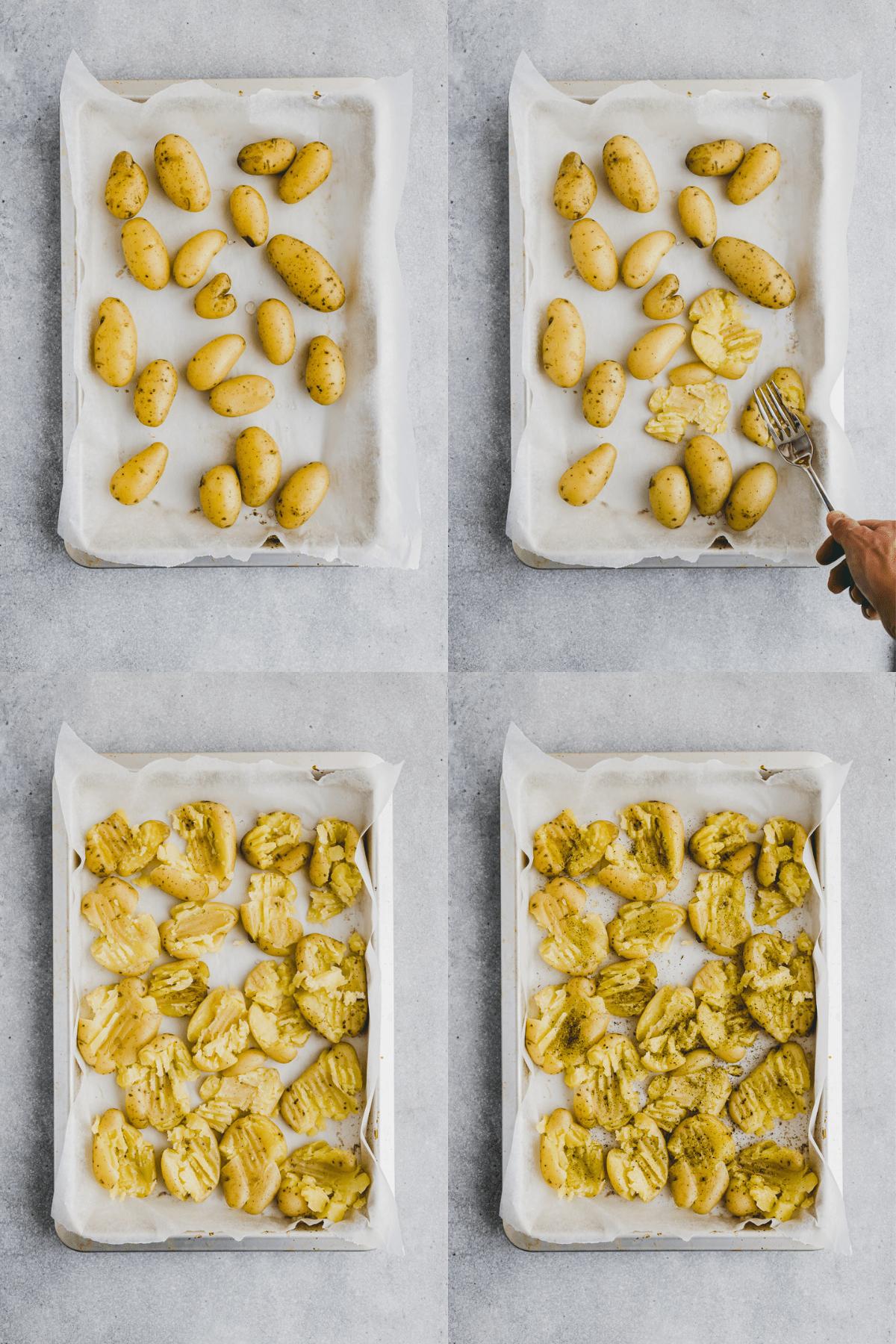 Smashed Potatoes Recipe Step 3-6