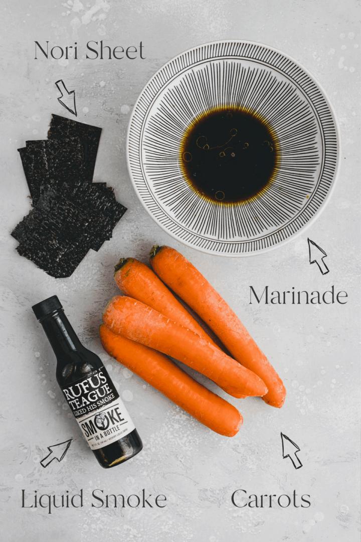 Vegan Carrot Lox Ingredients
