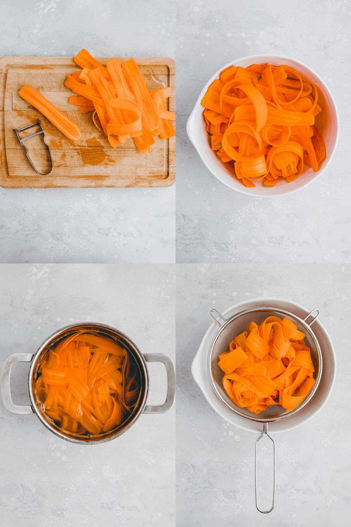 Veganer Karottenlachs Rezept Schritt 1-4