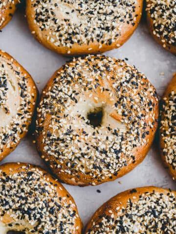 selbstgebackene bagels