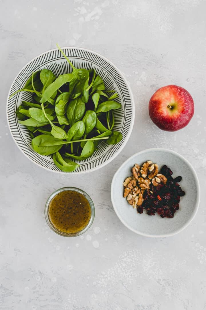 Herbstlicher Spinatsalat Zutaten
