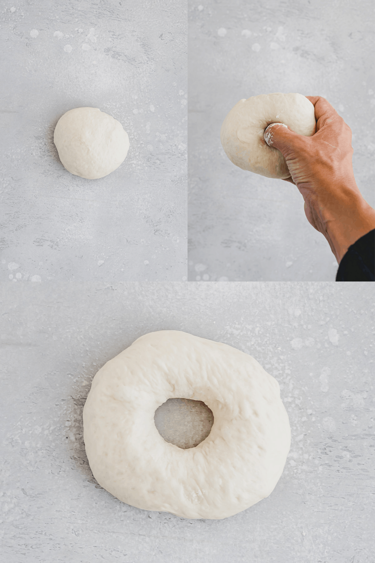Shaping a bagel