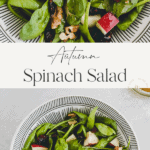 spinach salad with apple pinterest pin